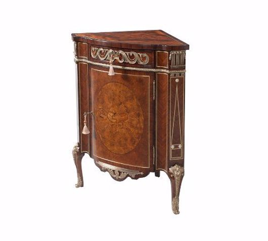 Picture of A FINELY INLAID CORNER CABINET