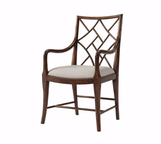 Picture of A DELICATE TRELLIS ARMCHAIR