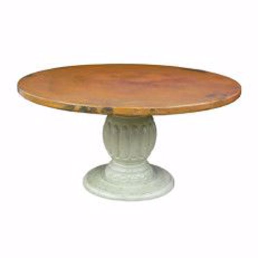 Picture of CARVED PEDESTAL WITH COPPER TOP