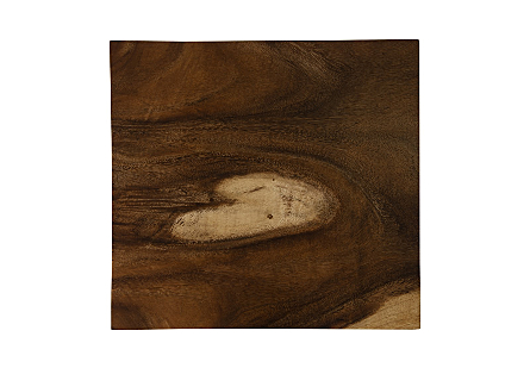 Picture of CHAMCHA WOOD END TABLE NATURAL, SQUARE, PLATED BRASS BASE
