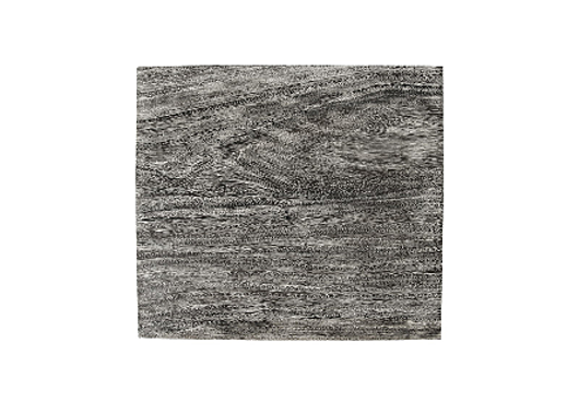 Picture of CHAMCHA WOOD END TABLE GREY STONE, SQUARE, BLACK NICKEL BASE