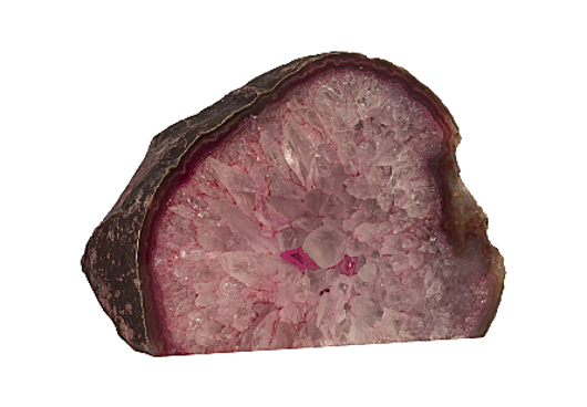 Picture of AGATE TABLETOP SCULPTURE, DYED PINK ASSORTED