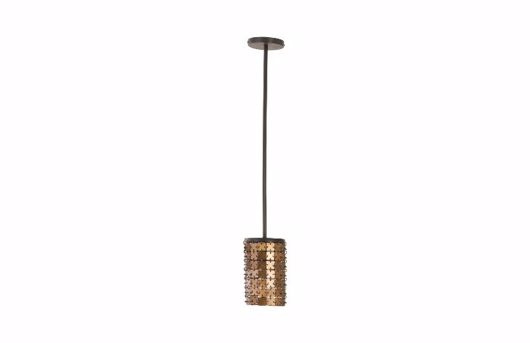 Picture of ARMOR PENDANT LAMP BRASS