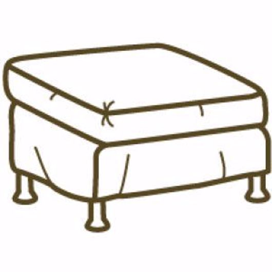 Picture of CABO OUTDOOR SLIPCOVERED OTTOMAN