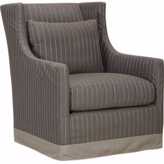 Picture of LOTUS OUTDOOR SLIPCOVERED SWIVEL CHAIR
