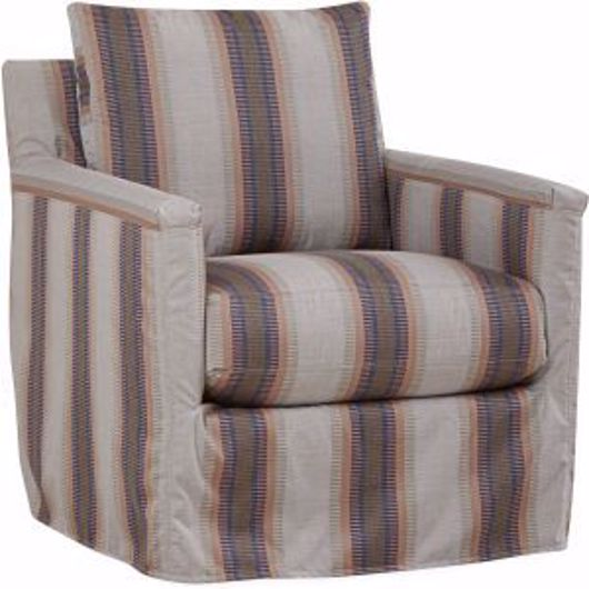 Picture of SEASIDE OUTDOOR SLIPCOVERED SWIVEL GLIDER