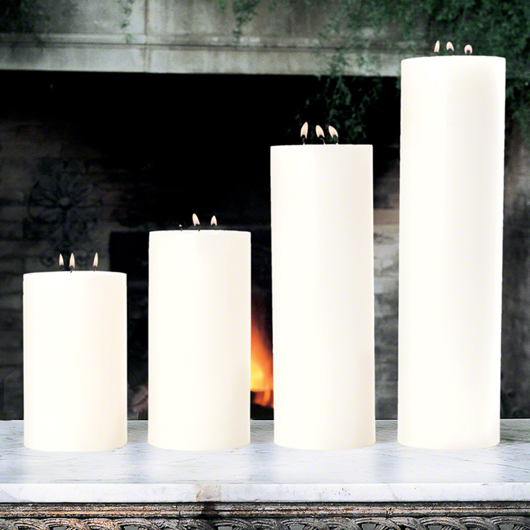 Picture of 3 WICK PILLAR CANDLE-UNSCENTED-5""