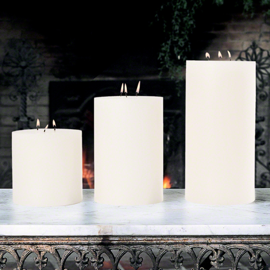 Picture of 3 WICK PILLAR CANDLE-UNSCENTED-6""