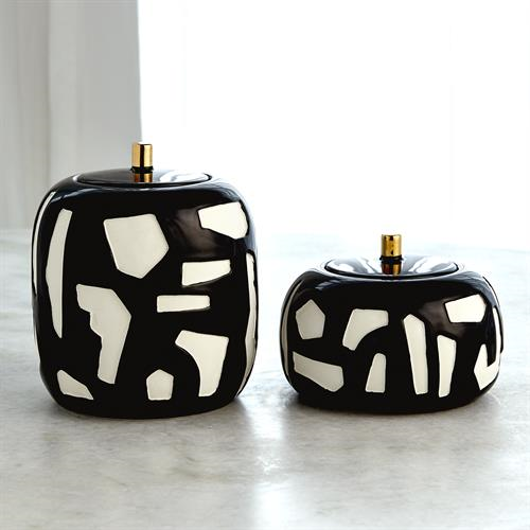 Picture of ABSTRACT JAR-WHITE/BLACK