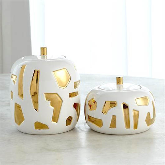 Picture of ABSTRACT JAR-WHITE/GOLD