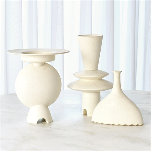 Picture of ADELYN GEOMETRIC VASE-WHITE