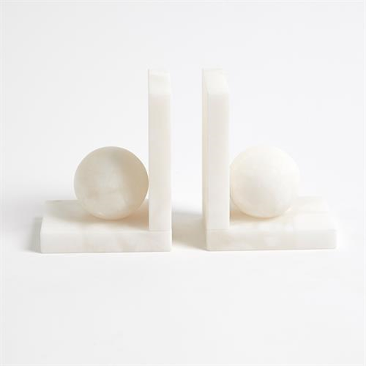 Picture of ALABASTER BALL BOOKENDS-PAIR