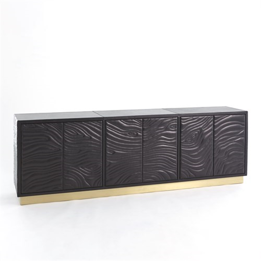 Picture of FOREST LONG CABINET-CHARCOAL LEATHER