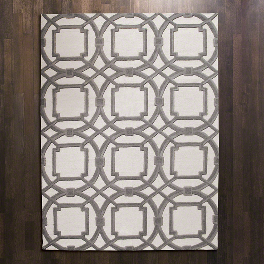 Picture of ARABESQUE RUG-GREY/IVORY