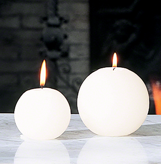 Picture of BALL CANDLE - UNSCENTED