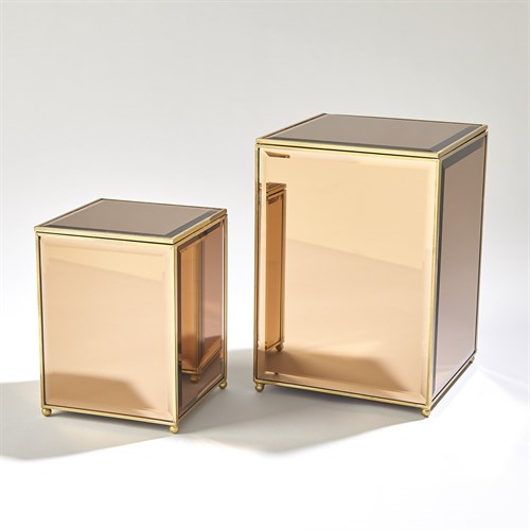 Picture of BEVELED MIRROR BOX-TAWNY