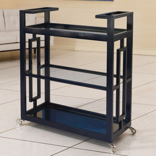 Picture of GRID BLOCK BAR CART-INK