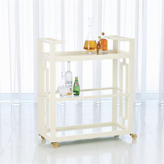 Picture of GRID BLOCK BAR CART-WHITE