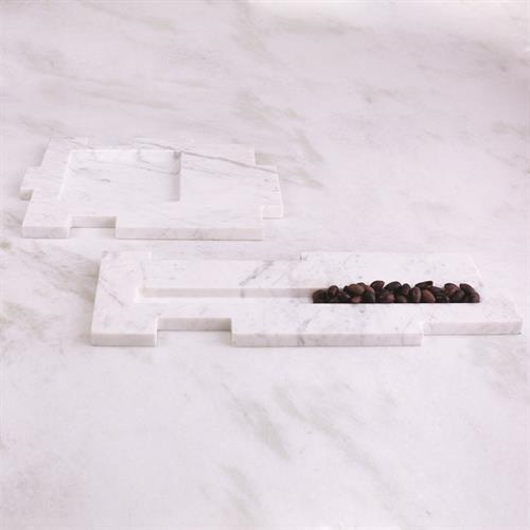 Picture of CAILLOIS TRAY-WHITE MARBLE