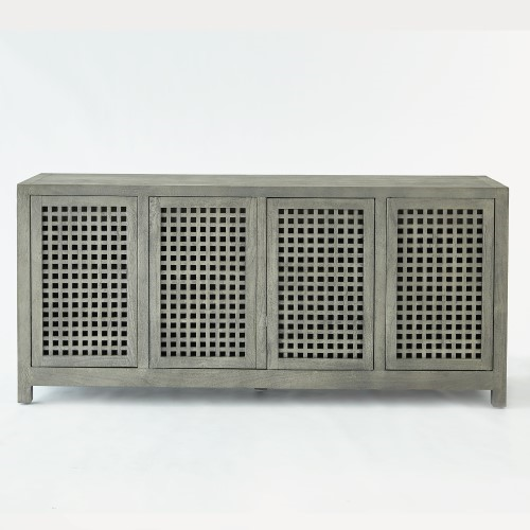 Picture of DRIFTWOOD LATTICE CREDENZA-GREY
