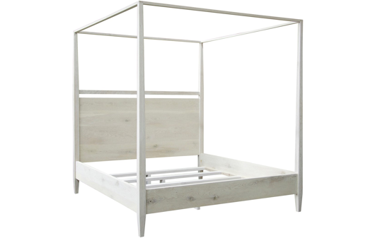 Picture of WASHED OAK MODERN 4-POSTER BED, EAST. KING