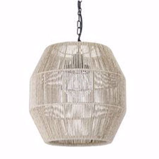 Picture of TANNER OUTDOOR PENDANT GLOBE NATURAL