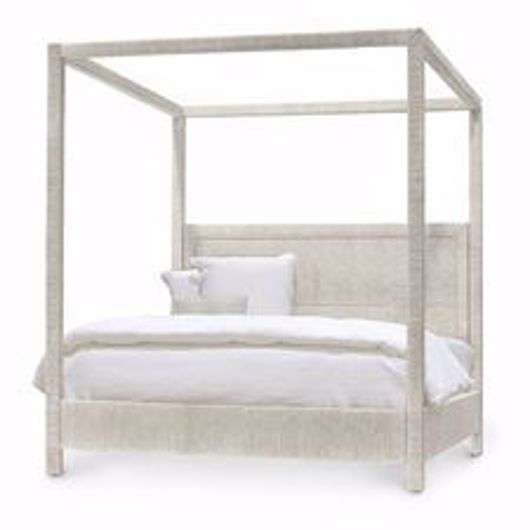 Picture of WOODSIDE CANOPY BED, KING, WHITE SAND