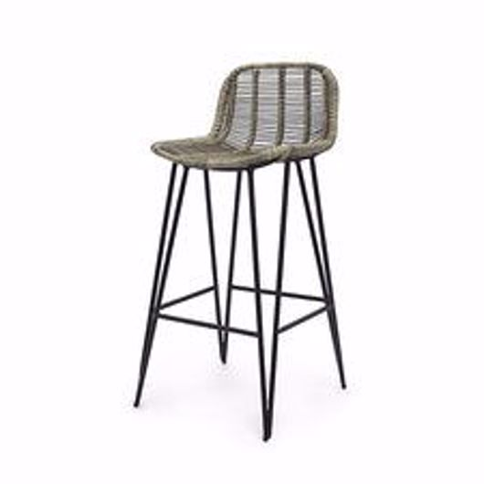 """Picture of HERMOSA OUTDOOR 30"""" BARSTOOL GREY"""